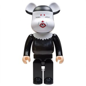 ベアブリック Bearbrick フィギュア misty 1000% bearbrick figure black/white|fermart-hobby