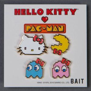 サンリオ Sanrio グッズ x sanrio x pac-man hello kitty pac-man ghosts 4 pins set multi|fermart-hobby