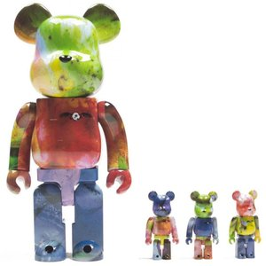 ベアブリック Bearbrick フィギュア pushead 3 colors 100% 400% 4 pcs bearbrick set multi|fermart-hobby
