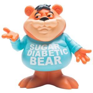ロン イングリッシュ Ron English フィギュア ビニールフィギュア sugar diabetic bear vinyl figure orange|fermart-hobby