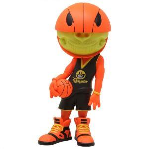 ロン イングリッシュ Ron English フィギュア ビニールフィギュア ron english popaganda basketball grin vinyl figure orange/black|fermart-hobby
