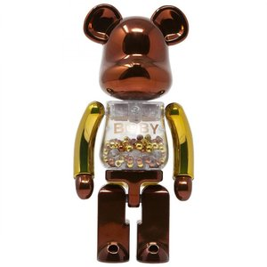ベアブリック Bearbrick フィギュア super alloyed my first bearbrick baby steampunk 200% bearbrick figure bronze|fermart-hobby