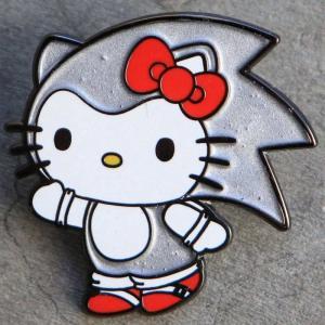 サンリオ Sanrio グッズ x sanrio x sonic silver hello kitty pin silver|fermart-hobby