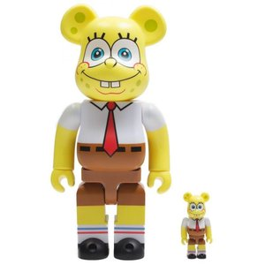 ベアブリック Bearbrick フィギュア nickelodeon spongebob squarepants 100% 400% bearbrick figure set yellow|fermart-hobby
