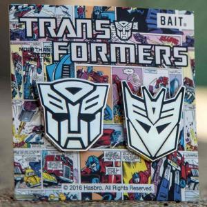 トランスフォーマー Transformers Movie グッズ x transformer autobot decepticon logo 2 pins silver|fermart-hobby