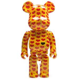 ベアブリック Bearbrick フィギュア x japan hide yellow heart 1000% bearbrick figure yellow fermart-hobby