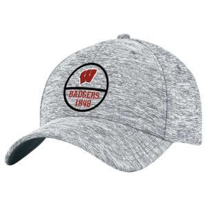 アンダーアーマー Under Armour メンズ キャップ 帽子 Wisconsin Badgers Twist Tech Flex Hat - Steel|fermart-hobby