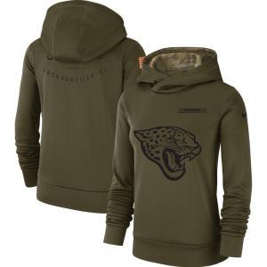 ナイキ Nike レディース パーカー トップス Jacksonville Jaguars Salute to Service Team Logo Performance Pullover Hoodie - Olive|fermart-hobby