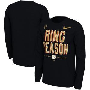 ナイキ Nike メンズ 長袖Tシャツ トップス Clemson Tigers College Football Playoff 2018 National Champions Locker Room Long Sleeve T-Shirt - Black|fermart-hobby