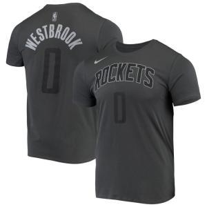ナイキ Nike メンズ Tシャツ トップス Russell Westbrook Houston Rockets Icon Performance T-Shirt - Gray|fermart-hobby