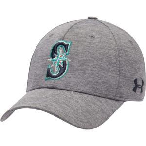 アンダーアーマー Under Armour メンズ キャップ スナップバック 帽子 Seattle Mariners Heather Gray Armour Twist Performance Snapback Adjustable Hat|fermart-hobby