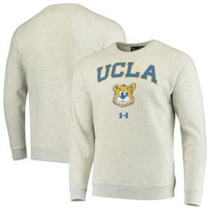 アンダーアーマー Under Armour メンズ スウェット・トレーナー トップス UCLA Bruins Throwback Arch Fleece Sweatshirt - Heathered Gray|fermart-hobby