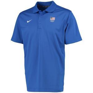 ナイキ Nike メンズ ポロシャツ トップス Team USA Flag 5 Rings Varsity Performance Polo - Royal|fermart-hobby