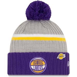 ニューエラ New Era メンズ ニット 帽子 Los Angeles Lakers 2019 N...