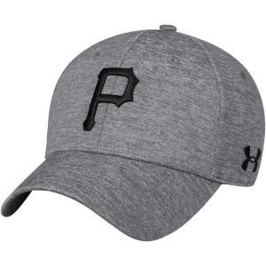アンダーアーマー Under Armour メンズ キャップ スナップバック 帽子 Pittsburgh Pirates Heather Gray Armour Twist Performance Snapback Adjustable Hat|fermart-hobby