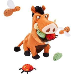 Disney ディズニー ペットグッズ 犬用品 おもちゃ Pumbaa Hide and Seek Puzzle Plush Squeaky Dog Toy|fermart-hobby