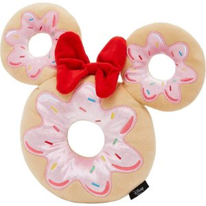 Disney ディズニー ペットグッズ 犬用品 おもちゃ Minnie Mouse Donut Plush Squeaky Dog Toy|fermart-hobby