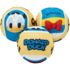 Disney ディズニー ペットグッズ 犬用品 おもちゃ Donald Duck Fetch Squeaky Tennis Ball Dog Toy, 3 count|fermart-hobby