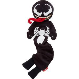 Marvel マーベル ペットグッズ 犬用品 おもちゃ 's Venom Bungee Plush Squeaky Dog Toy|fermart-hobby