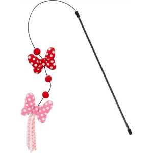 Disney ディズニー ペットグッズ 猫用品 おもちゃ Minnie Mouse Bows Teaser Cat Toy with Catnip|fermart-hobby