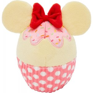 Disney ディズニー ペットグッズ 犬用品 おもちゃ Minnie Mouse Cupcake Plush Squeaky Dog Toy|fermart-hobby