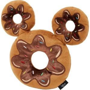 Disney ディズニー ペットグッズ 犬用品 おもちゃ Mickey Mouse Donut Plush Squeaky Dog Toy|fermart-hobby