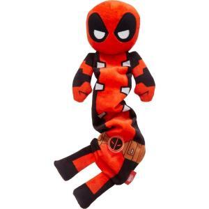 Marvel マーベル ペットグッズ 犬用品 おもちゃ 's Deadpool Bungee Plush Squeaky Dog Toy|fermart-hobby
