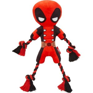 Marvel マーベル ペットグッズ 犬用品 おもちゃ 's Deadpool Plush with Rope Squeaky Dog Toy|fermart-hobby