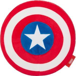 Marvel マーベル ペットグッズ 犬用品 おもちゃ 's Captain America's Shield Round Plush Squeaky Dog Toy|fermart-hobby