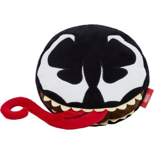 Marvel マーベル ペットグッズ 犬用品 おもちゃ 's Venom Round Plush Squeaky Dog Toy|fermart-hobby