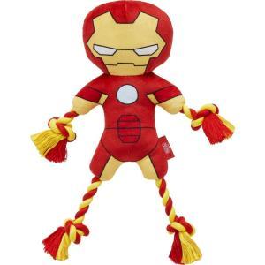Marvel マーベル ペットグッズ 犬用品 おもちゃ 's Ironman Plush with Rope Squeaky Dog Toy|fermart-hobby