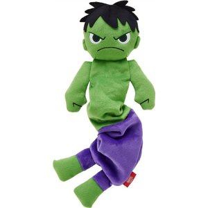 Marvel マーベル ペットグッズ 犬用品 おもちゃ 's The Hulk Bungee Plush Squeaky Dog Toy|fermart-hobby