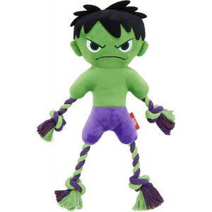 Marvel マーベル ペットグッズ 犬用品 おもちゃ 's The Hulk Plush with Rope Squeaky Dog Toy|fermart-hobby