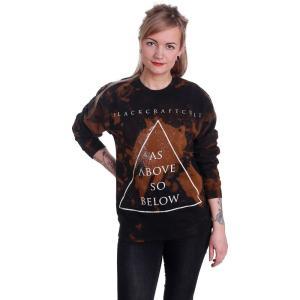 ブラック クラフト カルト Black Craft Cult レディース スウェット・トレーナー トップス As Above So Below Bleach Wash Sweater black|fermart-hobby