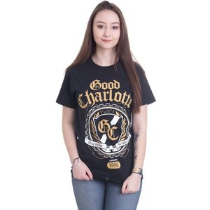 グッド シャーロット Good Charlotte レディース Tシャツ トップス Crest T-Shirt black|fermart-hobby