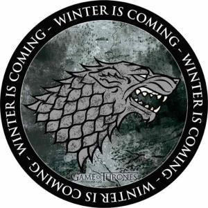 ゲーム オブ スローンズ Game Of Thrones グッズ マウスパッド - Stark - Mousepad black|fermart-hobby