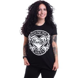バウンシング ソウルズ The Bouncing Souls レディース Tシャツ トップス Rocker Heart T-Shirt black|fermart-hobby