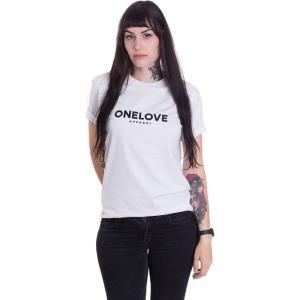 ワン ラブ アパレル One Love Apparel レディース Tシャツ トップス Staple White T-Shirt white|fermart-hobby