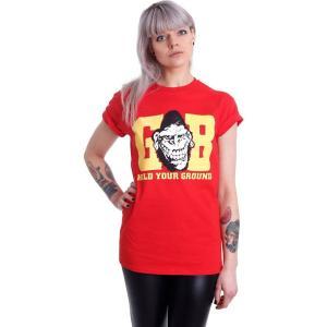 ゴリラ ビスケッツ Gorilla Biscuits レディース Tシャツ トップス Hold Your Ground Red T-Shirt red|fermart-hobby