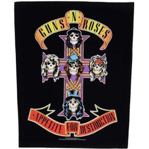 ガンズ アンド ローゼズ Guns N' Roses ユニセックス 雑貨 Appetite For Destruction Backpatch black|fermart-hobby