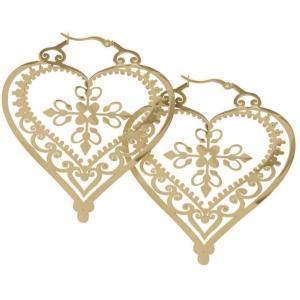 ワイルドキャット Wildcat ユニセックス イヤリング・ピアス ジュエリー・アクセサリー Steel Zirconline Heart Of Royal Blood Hoops Gold Earrings nocolor|fermart-hobby