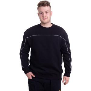 アーバンクラシックス Urban Classics メンズ スウェット・トレーナー トップス - Reflective Crew Black - Sweater black fermart-hobby