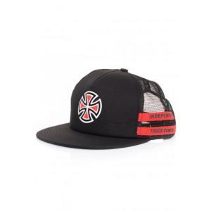 インディペンデント Independent ユニセックス キャップ 帽子 - Shear Mesh Back Black/Red - Cap black|fermart-hobby