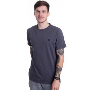 フレッドペリー Fred Perry メンズ Tシャツ トップス - Ringer Charcoal - T-Shirt grey|fermart-hobby