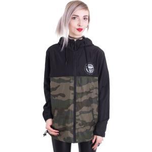 ブラック クラフト カルト Black Craft Cult レディース ジャケット アウター Staple Black On Camo Lightweight Jacket camouflage|fermart-hobby