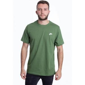 ナイキ Nike メンズ Tシャツ トップス - Sportswear Club Treeline/White - T-Shirt green fermart-hobby