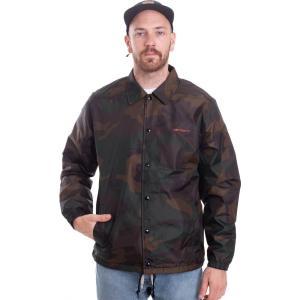 カーハート Carhartt WIP メンズ ジャケット コーチジャケット アウター - Carhartt Script Coach Camo Evergreen/Brick Orange - Jacket camouflage|fermart-hobby