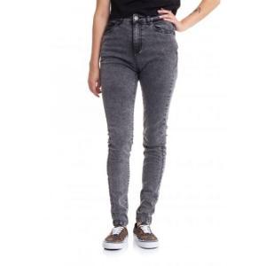 アーバンクラシックス Urban Classics レディース ジーンズ・デニム スキニー ボトムス・パンツ - High Waist Skinny Black Heavy Acid Washed - Jeans grey fermart-hobby