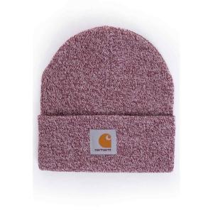 カーハート Carhartt WIP ユニセックス ニット 帽子 Scott Watch Mulberry/Wax Beanie burgundy|fermart-hobby