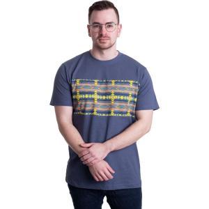 アーバンクラシックス Urban Classics メンズ Tシャツ トップス - Inka Pattern Vintageblue - T-Shirt blue fermart-hobby
